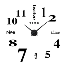 FH-2019 hot sale creative 3d wall clock diy acrylic clock
