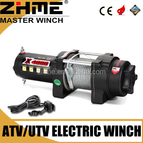 small ATV 4000lbs electric car towing winch with high performance motor
