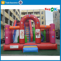 Customized giant inflatable jumping bouncy bouncer combo inflatable slide for sale