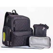 Multifunctional oem polyester fashion black mummy nappy diaper backpack bag baby