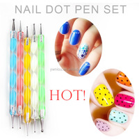 2-way Nail Art Tool Dotting Painting Marbleizing Pen