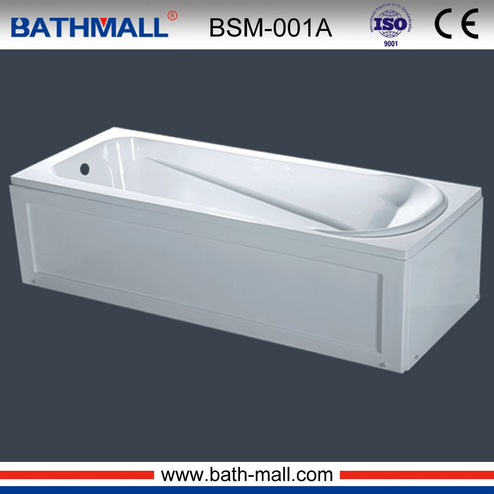 Hot sale sanitary wares cheap acrylic simple square bathtub