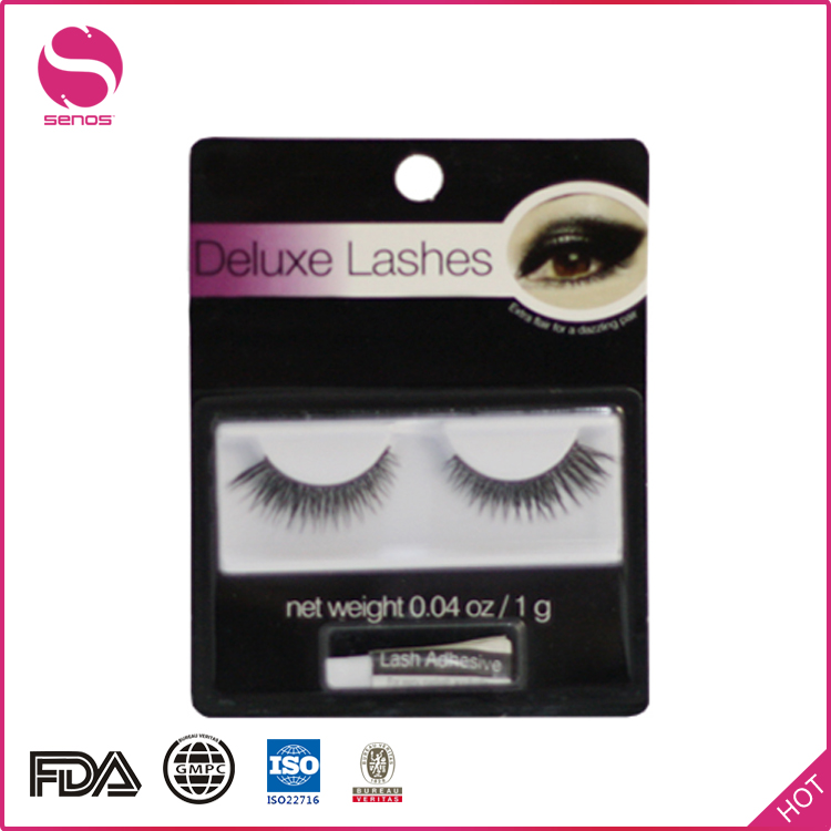 Senos Alibaba Express Synthetic False Private Label Eyebrow Makeup Korean Eyelash Extensions