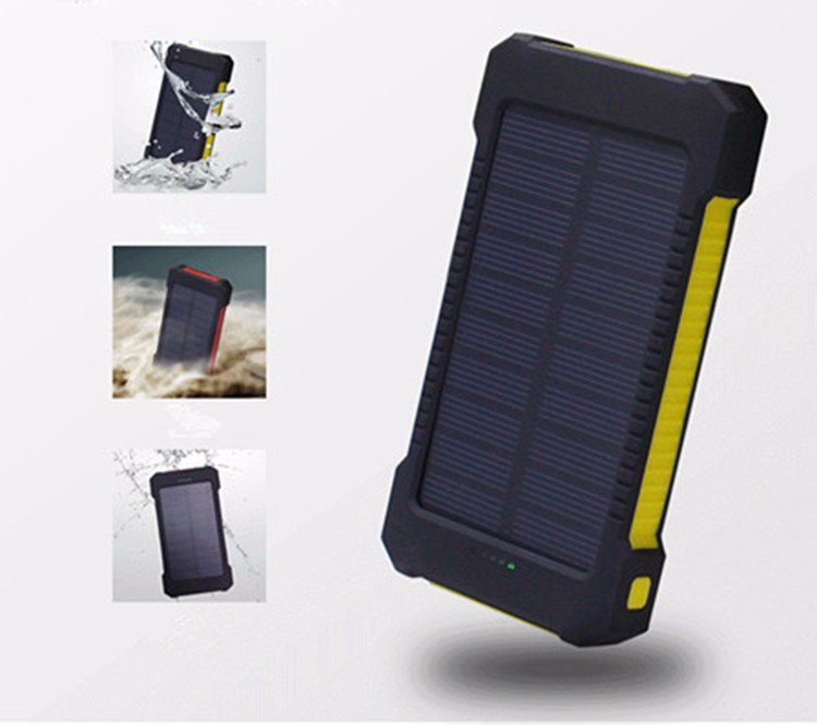 Promotional High Capacity Portable Solar Power Bank Charger 8000mAh