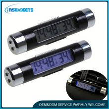 Car digital clock in/out thermometer h0tkR lcd clock with thermometer for car for sale