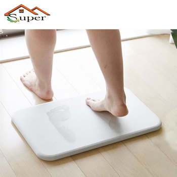 New Product Eco-friendly Absorbent Anti-Slip Diatomite Fast Drying Diatomite Bath Mat