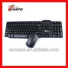 2.4GHz slim wireless keyboard and mouse combo for laptop prices in japan H100