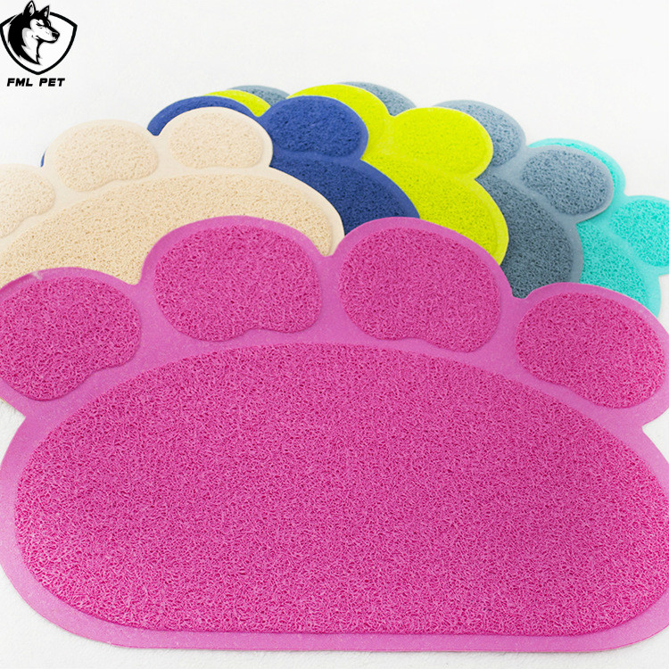 Colorful Simple Footprint Hard Plastic Cat Litter Mat For Home <strong>Pets</strong>