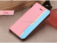 Contrast color Fashion PU Leather Wallet Flip Mobile Phone Case Cover For Blackberry Q10