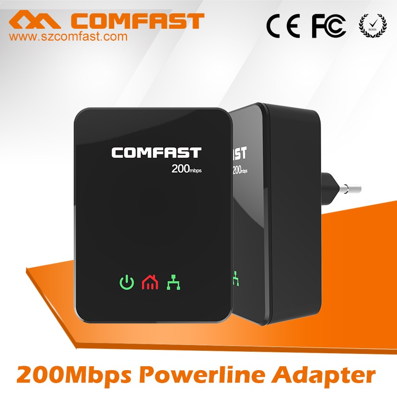 2016 Alibaba China New Products COMFAST CF-WP200 Homeplug AV PLC Powerline Adapter