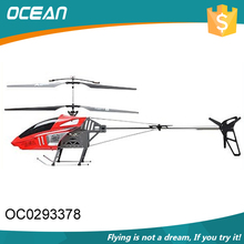 Newest red color long fly time 2.4G large rc helicopter with good quality
