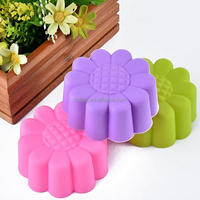 3cm/5cm/7cm small flower silicone muffin cupcakes for jelly
