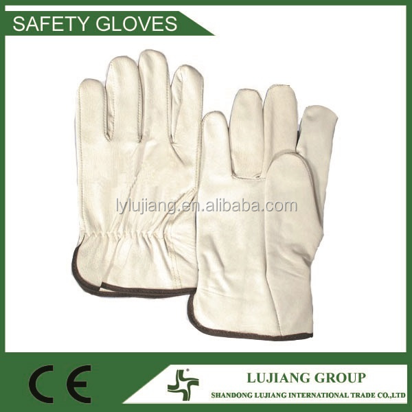 LJ-MS2604A Goat leather driver gloves, 10'' goat leather work gloves