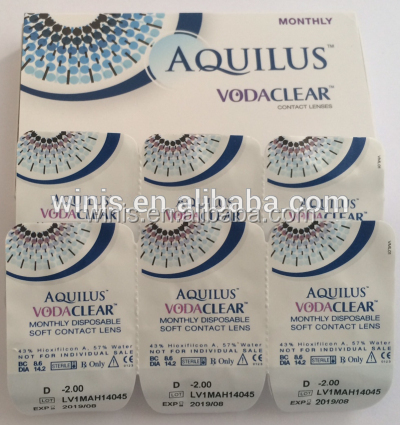 Best selling Monthly clear corrective Vodaclear prescription contact lenses