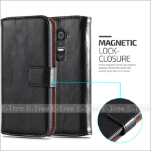 For LG G2 New Design Wallet Case Flip PU Leather Case With Card Slots Stand