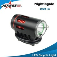 Jexree 1000LM Bike Zoom Flashlight Handheld Emergency Light LED Mini Bicycle Headlight and Tailing Set