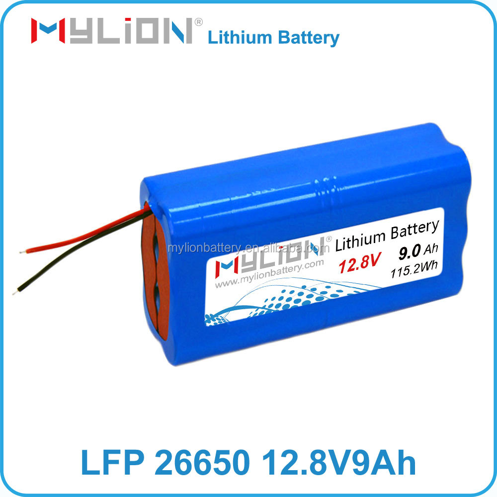 Small long cycle life lithium battery pack 12V 9Ah for electric sprayer with life 26650 cell