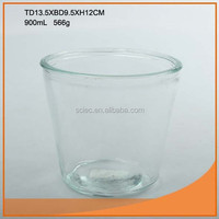 High quality clear glass vase from gold supplier