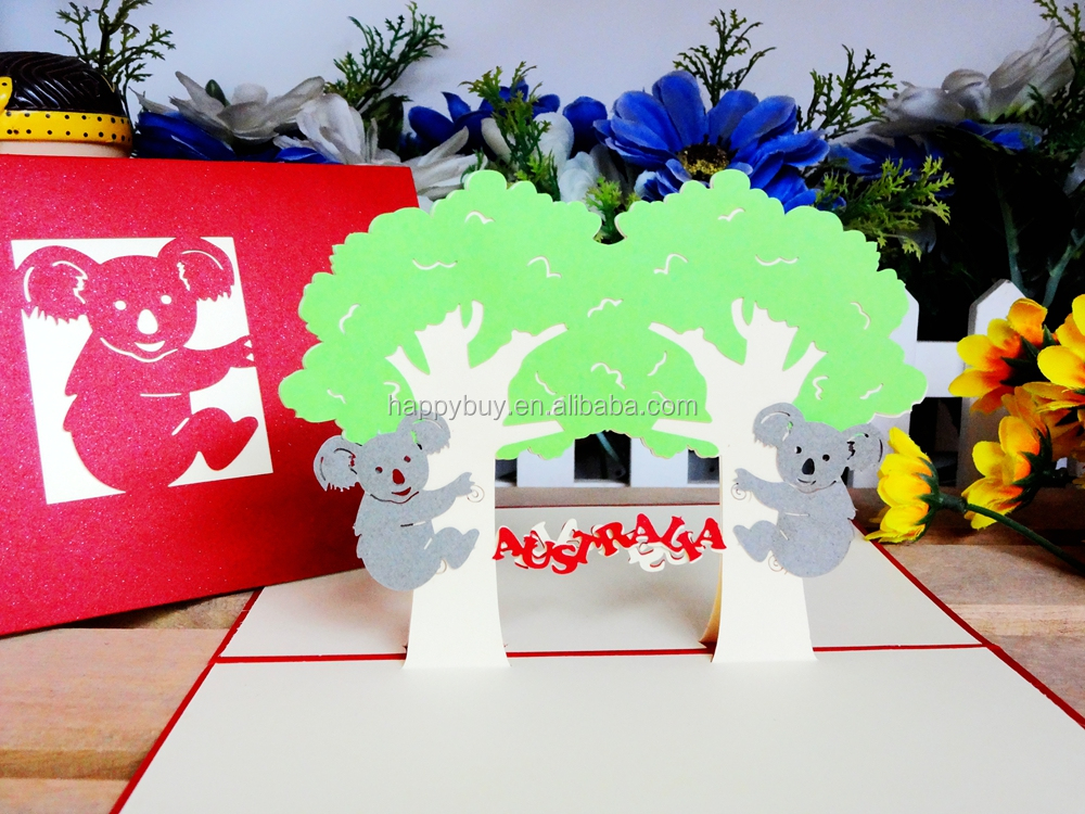 new design Australia animal cuty kids handmade pop up birthday – Birthday Card Delivery Australia