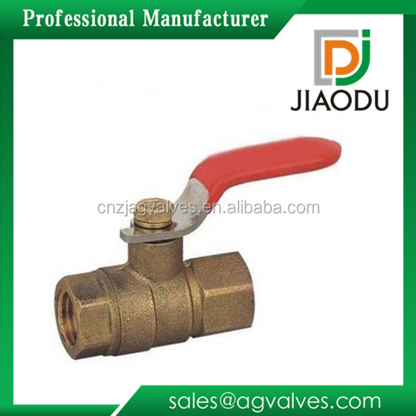 factory price lead-free 3/8 3 1 inch npt threaded long steel handle dn20 female brass inside screwed ball valve