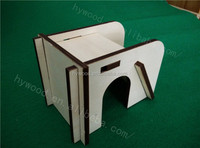 cheap luxury indoor decorative laser engraved carved wooden assembled dog box cat house