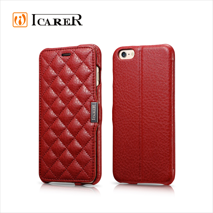Fashional Women pu Leather Case for iPhone 6 6s 6plus with stand Flip Cover