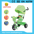 SOFT SEAT AND CONTROL PUSHBAR BABY TRICYCLE WITH BIG CANOPY