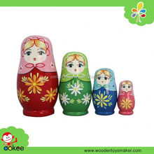2016 Professional custom wooden matryoshka dolls Handmade wooden Nesting Doll Hijab girl set of 4pc