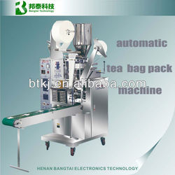 Automatic stainless steel loose tea packing machine make filter paper tea bag with thread and tag