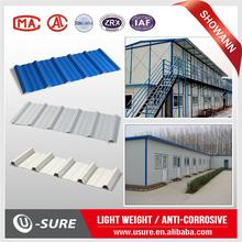 Heat insulation pvc roof tiles container homes/luxury container apartments roof tile