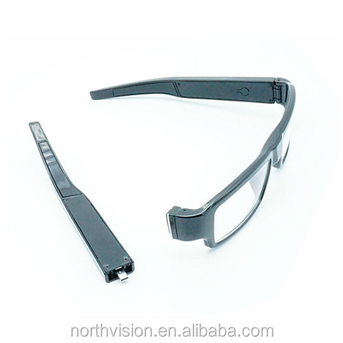 Rechargeable alibaba full HD TF card recording hidden camera eye glasses