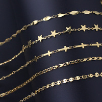 6161 Stainless Steel Real Gold Chain Necklace 18k Jewelry