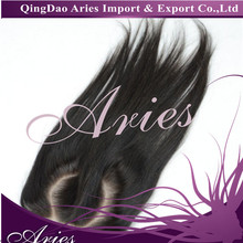 "New Arrival O Part Lace Closure Brazilian Straight 4""x4"" Slightly Bleached Knots Brazilian Human Hair Closure"