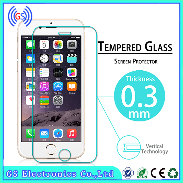 Cheap 2.5D 9H Mobile Phone Tempered Glass For Iphone 6, 0.3mm Tickness Glass For Iphone 6 Screen Protector