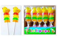 20g 28g 25g duck and fruit slice shaped lollipop Soft Jelly Pop candy