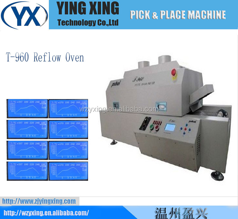 economical lead-free hot air reflow oven, smt reflow oven, automatic reflow machine