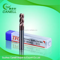 Special stainless steel milling cutter/carbide key way mill HRC60 carbide end mill with high precision
