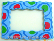 Popular silicone rubber photo frame wholesale PS beautiful design picture frame