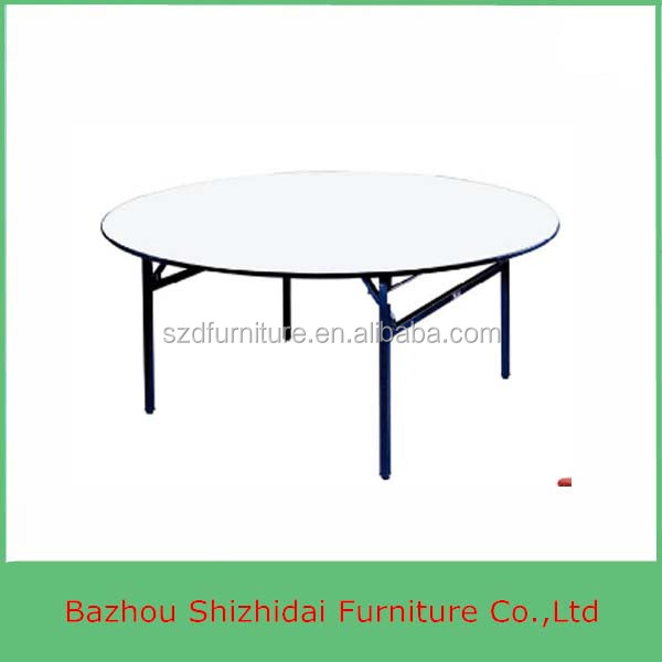 Factory Manufacture Round Folding Dinner Table Banquet Table