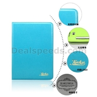 Kakusiga Elegant Bubbles Stand Leather Folio Case For iPad Air with Elastic Belt