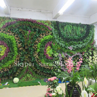 SJ1801201 Garden decorative foliage green plant wall panel/plant artificial walls