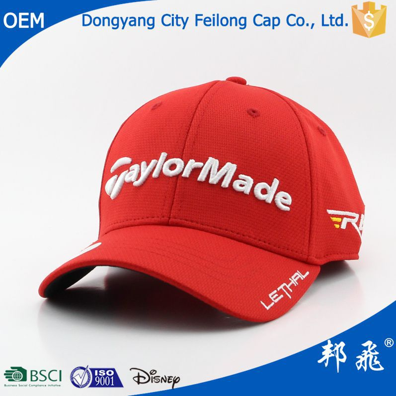 Solf 3D Embroidery Custom-made Sport/Baseball Cap With Great Quality
