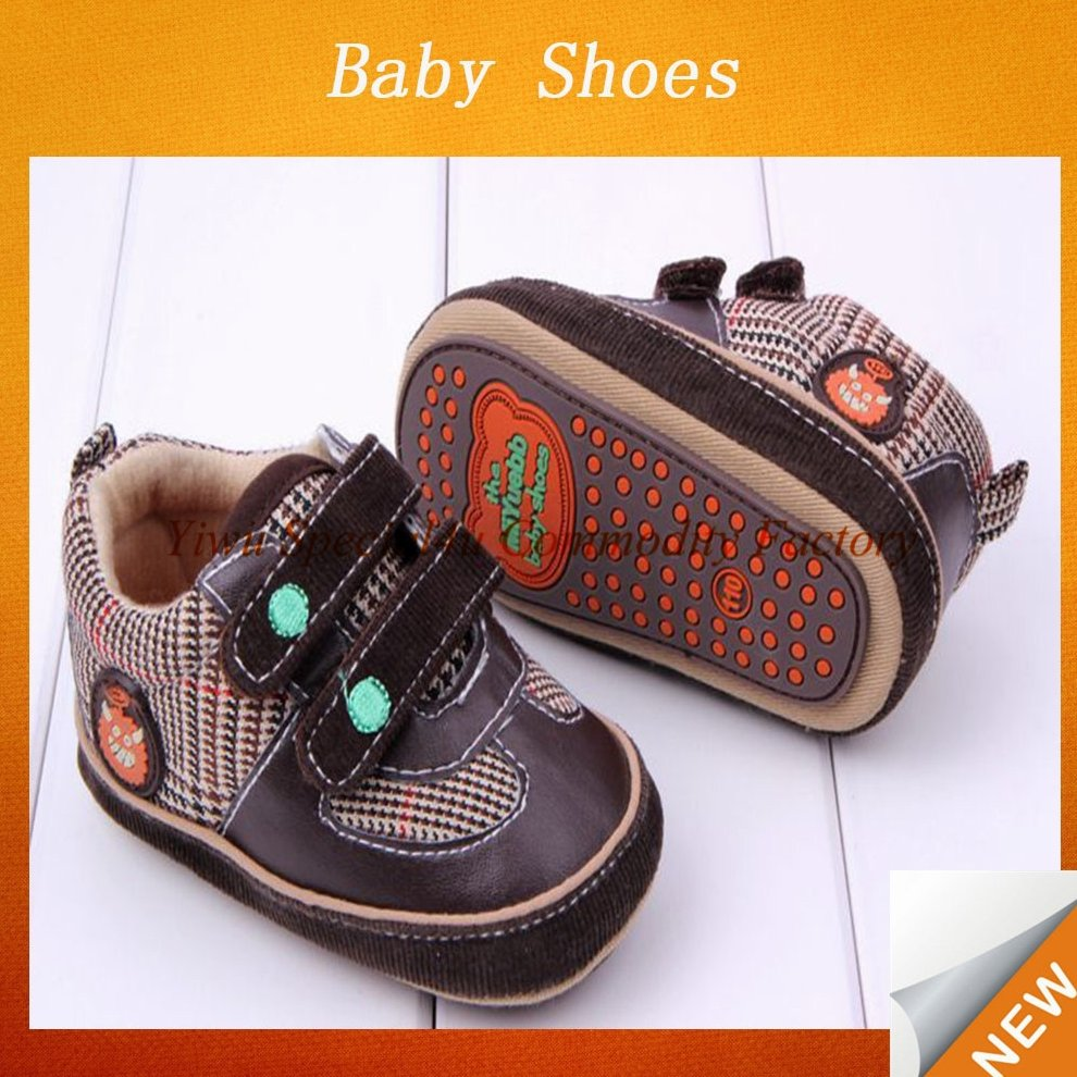 High Quality Cute Infant Toddler Baby Shoes hard sole baby shoes Boy Kid Soft Sole Shoes SYBS-089