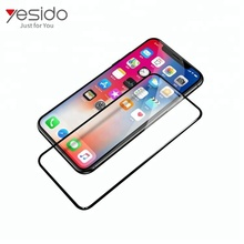 mobile phone Nano Anti shock 5D 9H hardness tempered glass screen protector film for Apple iPhone X