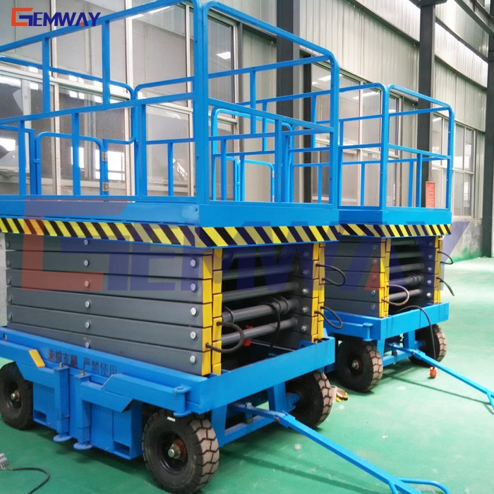 Competitive price hydraulic mobile trailer electric scissor man lift