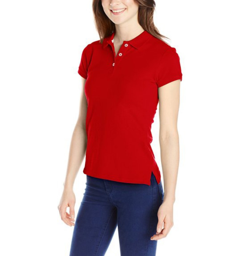 New design plain blank t-shirt polo red women's polo wholesale