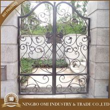 Square Top Patio Wrought Iron Gate