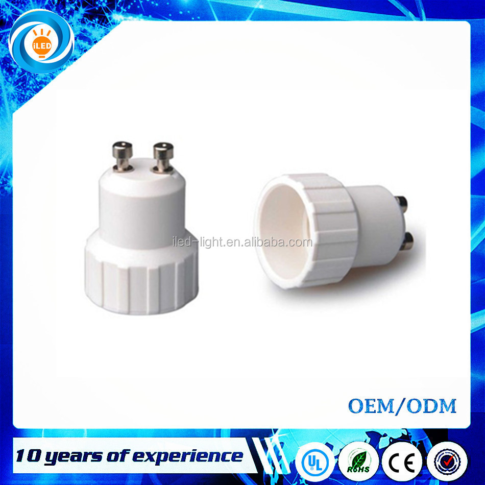 GU10 male to E14 female GU10 to E14 Halogen CFL Light Bulb Lamp Adapter Converter Holder
