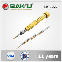 Hot new product BAKU S2 Steel BK-7275 magnetic Screwdriver set with 5 tips in 1 interchangeable mobile mutifunction screwdriver