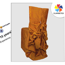 Wholesale Orange Dupioni Silk Diana Banquet Chair Cover